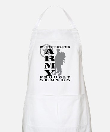 Granddaughter Proudly Serves 2 - ARMY BBQ Apron