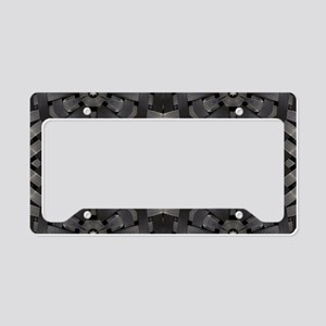 abstract pattern grunge indus License Plate Holder