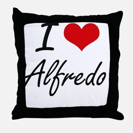 I Love Alfredo Throw Pillow