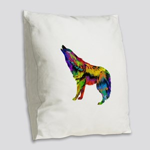 HOWL Burlap Throw Pillow