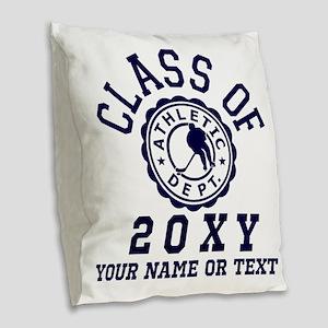 Class of 20?? Hockey Burlap Throw Pillow