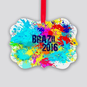 Brazil 2016 Burst Picture Ornament