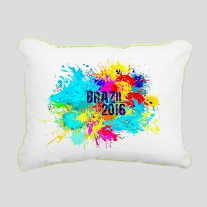 Brazil 2016 Burst Rectangular Canvas Pillow