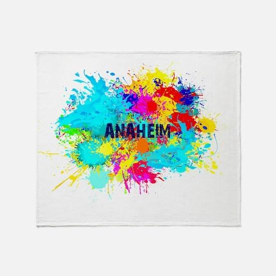 Anaheim Burst Throw Blanket