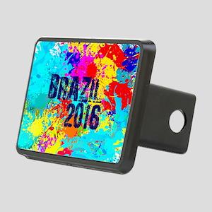 Brazil 2016 Burst Rectangular Hitch Cover