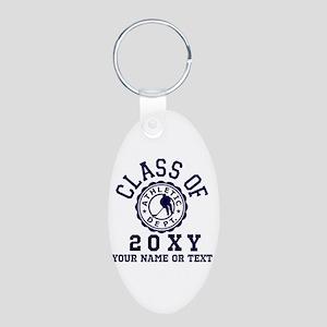 Class of 20?? Hockey Aluminum Oval Keychain