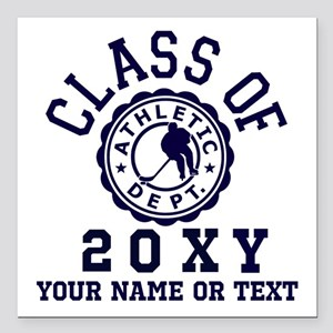"Class of 20?? Hockey Square Car Magnet 3"" x 3"""