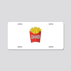 Idaho fries Aluminum License Plate