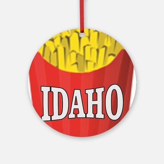 Idaho fries Round Ornament