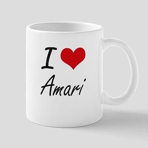 I Love Amari Mugs