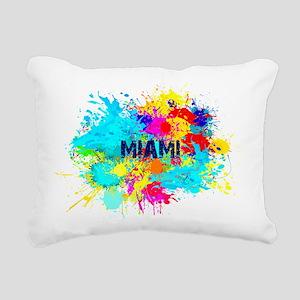 MIAMI BURST Rectangular Canvas Pillow