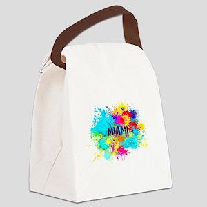 MIAMI BURST Canvas Lunch Bag