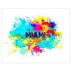 MIAMI BURST Framed Print