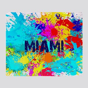 MIAMI BURST Throw Blanket