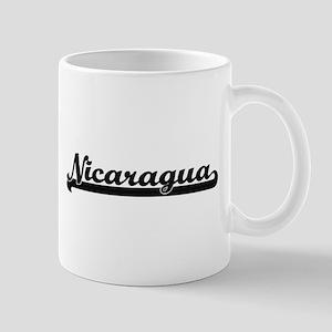 Nicaragua Classic Retro Design Mugs