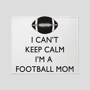 Keep Calm Football Mom Throw Blanket