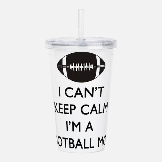 Keep Calm Football Mom Acrylic Double-wall Tumbler
