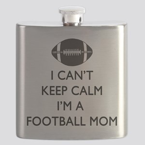 Keep Calm Football Mom Flask