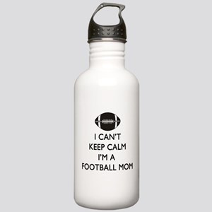 Keep Calm Football Mom Water Bottle