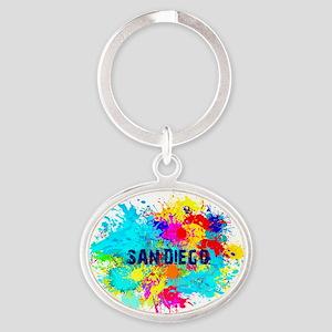 SAN DIEGO BURST Oval Keychain