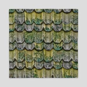 Green Shingles  Queen Duvet