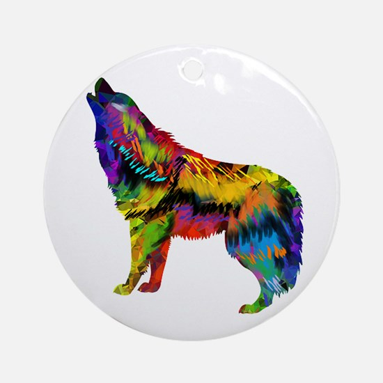 HOWL Round Ornament