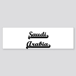Saudi Arabia Classic Retro Design Bumper Sticker