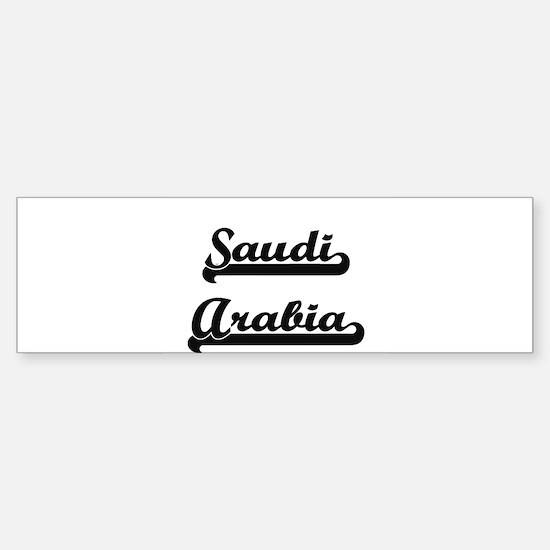 Saudi Arabia Classic Retro Design Bumper Bumper Bumper Sticker