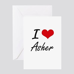 I Love Asher Greeting Cards