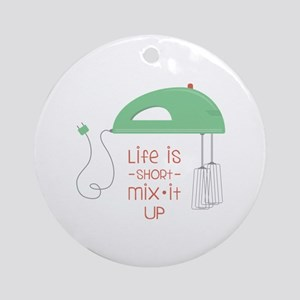 Mix It Up Round Ornament