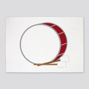 Bass Drum 5'x7'Area Rug