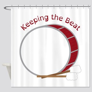Keeping The Beat Shower Curtain