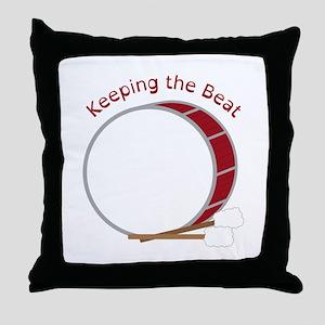 Keeping The Beat Throw Pillow