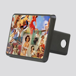 Pin up Collage Rectangular Hitch Cover