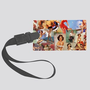 Pin up Collage Large Luggage Tag