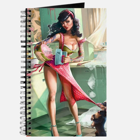 Pin up Girl In Kitchen Journal