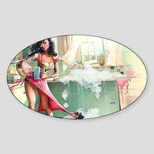 Pin up Girl In Kitchen Sticker