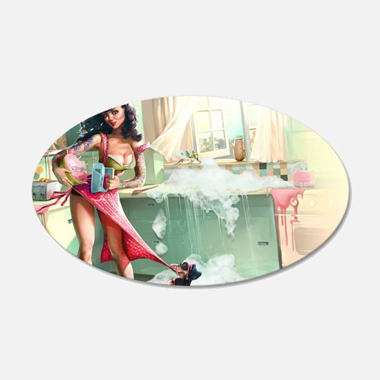 Pin up Girl In Kitchen Wall Sticker