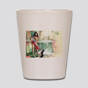 Pin up Girl In Kitchen Shot Glass