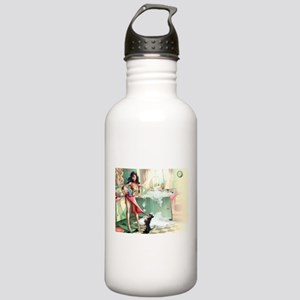 Pin up Girl In Kitchen Sports Water Bottle