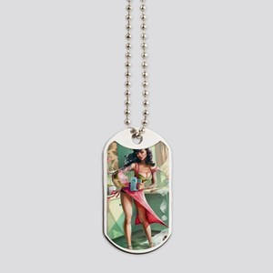 Pin up Girl In Kitchen Dog Tags
