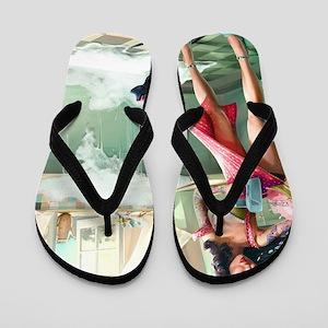 5f7418b12e6fef Pin Up Girl Flip Flops - CafePress