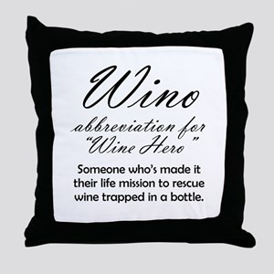 Wino = Wine Hero Throw Pillow