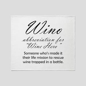 Wino = Wine Hero Throw Blanket