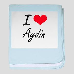I Love Aydin baby blanket