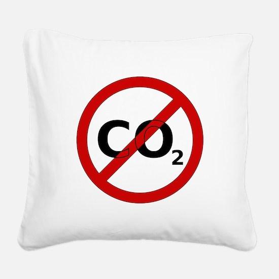 No CO2 Square Canvas Pillow
