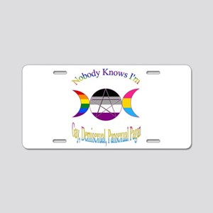 Nobody Knows I'm Gay Demise Aluminum License Plate