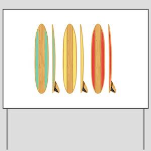 Surf Boards Yard Sign