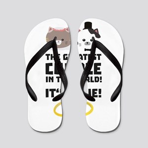 The greatest Couple in the World C76su Flip Flops