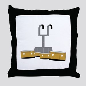Quad Drums Throw Pillow